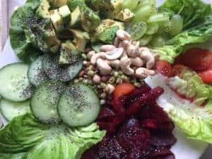 kids eat salad